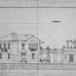 Progetto della villetta destinata al direttore dello stabilimento.